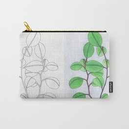 Mirrored leaves Carry-All Pouch