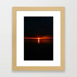 Hull Sunset Framed Art Print