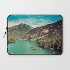 Mountain and Forest Lake Diablo - Blue and Green Water and Trees Laptop Sleeve