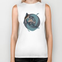 nautical Biker Tanks featuring nautical by Louise Hubbard
