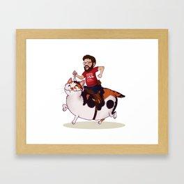 Onward, Dixie! Framed Art Print