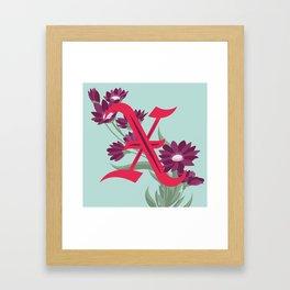 Letter 'X' is for Xeranthemum Framed Art Print