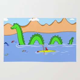 Captain Kayak and Loch Ness Monster Rug