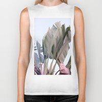 palm Biker Tanks featuring palm by Renee-David