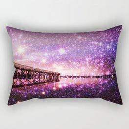 Enchanting Bridge Over Mystic Waters Rectangular Pillow