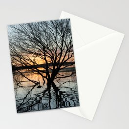 Sunset in the Los Padres lagoon. Stationery Cards