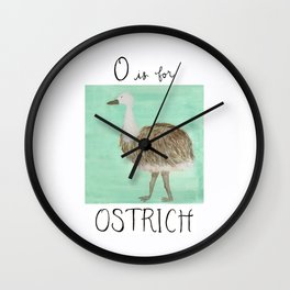 O is for Ostrich Wall Clock