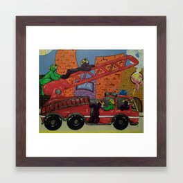 Fire Engine Framed Art Print