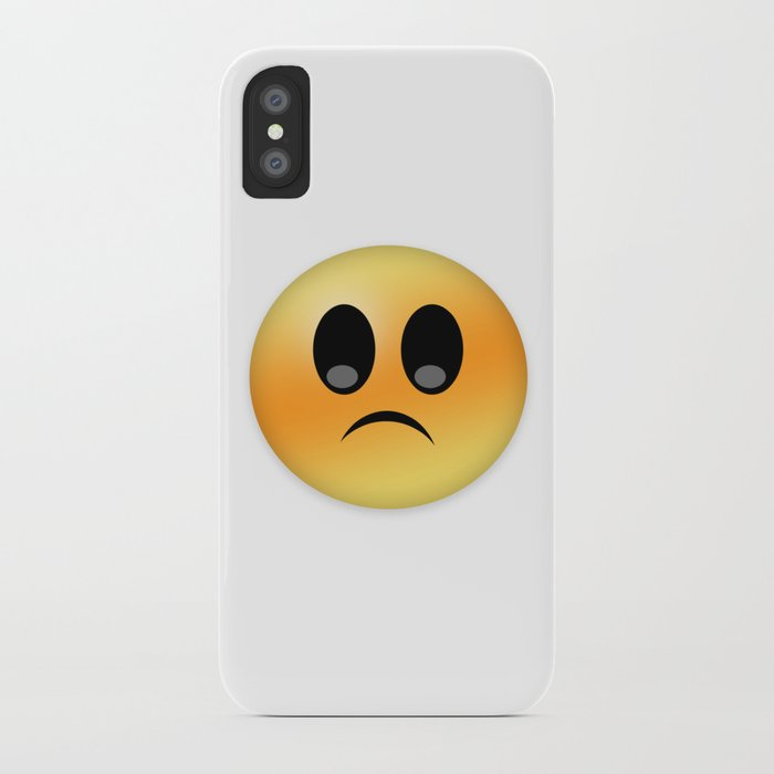 Upset Emoticon Smiley Expression Cartoon Character Iphone Case By