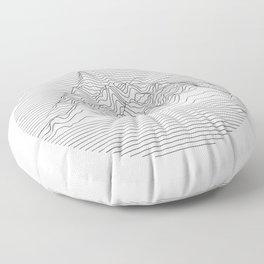 Mountain lines Floor Pillow
