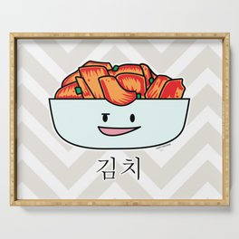 Happy Kimchi Kimchee Bowl Cabbage pickled spicy Korean Serving Tray