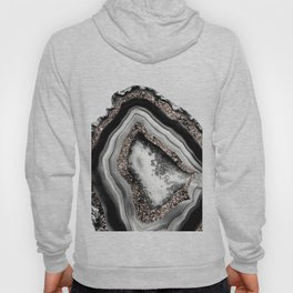 Agate Rose Gold Glitter Glam #4 #gem #decor #art #society6 Hoody