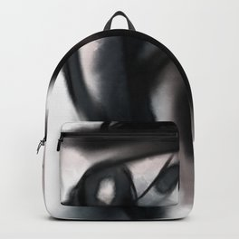 Lola dark abstract portrait woman with hat Backpack