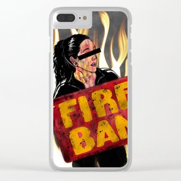 Fire Ban Clear iPhone Case