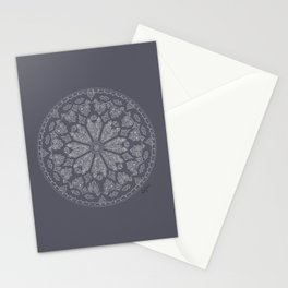 Ultimate Gray Rose Window Stationery Cards