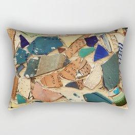 Neve Zedek Mosaic Wall Rectangular Pillow