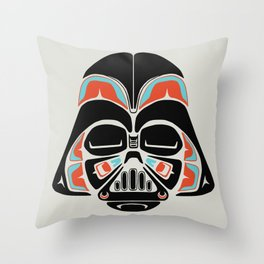 Death Mask - Alliance Is Rebellion - Darth Vader Throw Pillow