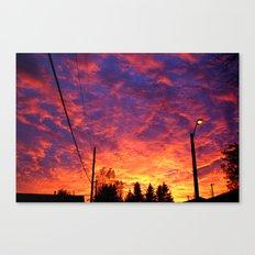Street lamp glow  Canvas Print