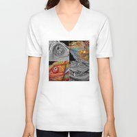 scales V-neck T-shirts featuring Reptile Scales by Tim Jeffs Art
