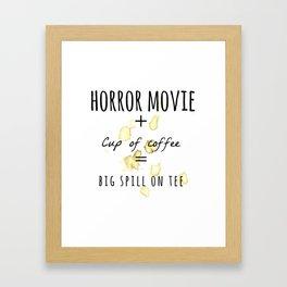 Horror movie + Coffee Framed Art Print