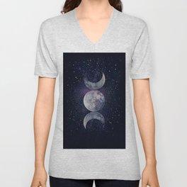Shining Lunar Symbol Unisex V-Neck