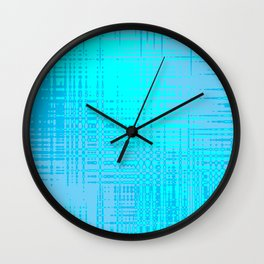 Teal Blue and Cyan Design Wall Clock