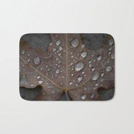Water Droplet on Leaf Bath Mat
