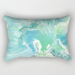 Breathe Blue Abstract Print Rectangular Pillow