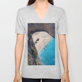 Hidden Beach & Shipwreck 2 Unisex V-Neck