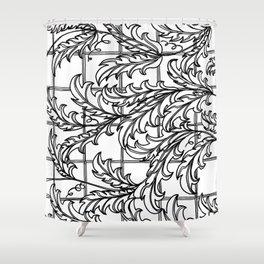 A Mediterranean Floral Shower Curtain