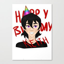 Birthday Keef Canvas Print
