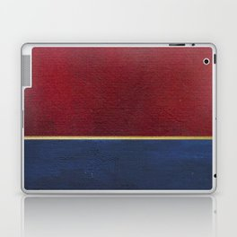 Deep Blue, Red And Gold Abstract Painting Laptop & iPad Skin