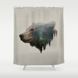 The Pacific Northwest Black Bear Shower Curtain