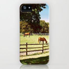 Horse Farm photography landscape iPhone Case