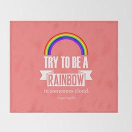 Rainbow Maya Angelou Quote Throw Blanket