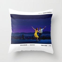 La La Land - Movie Poster - Damien Chazelle Throw Pillow