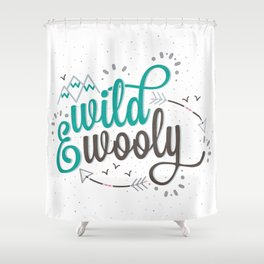 Wild & Wooly I Shower Curtain