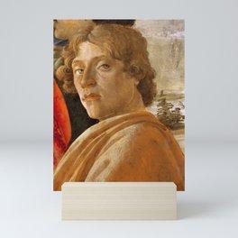 Sandro Botticelli Probable self-portrait of Botticelli, in his Adoration of the Magi (1475) Mini Art Print