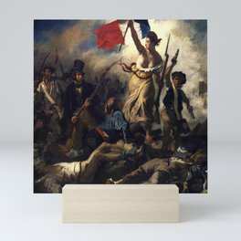 Delacroix – La liberté guidant le peuple-Liberty Leading the People-La Libertad guiando al pueblo Mini Art Print