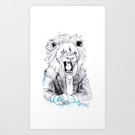 Business Lion Art Print