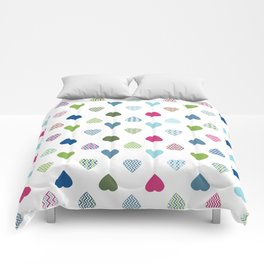 AFE Colorful Hearts Comforters