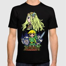 Hero of Time Black MEDIUM Mens Fitted Tee