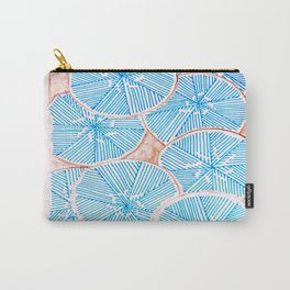 Frosted Flowers Carry-All Pouch