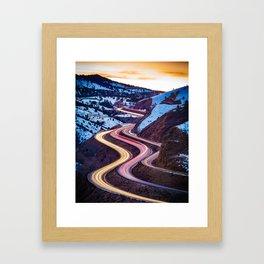 Colorado Curves Framed Art Print