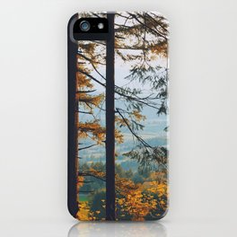 Earthscape Landscape Photography Tall Autumn Fall Trees Overlooking Fields iPhone Case