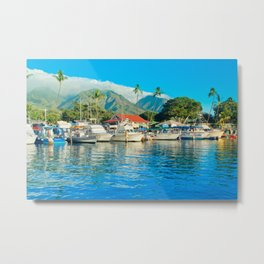 Lāhainā Marina Sunset Maui Hawaii Metal Print