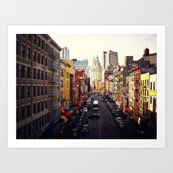 Heart of it All - Above Chinatown - New York City Art Print