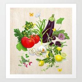Veggie Composition Art Print