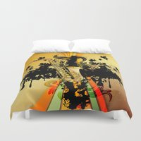 saxophone Duvet Covers featuring Saxophone by nicky2342