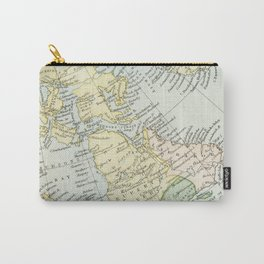 Vintage Map of The East Of Canada Carry-All Pouch